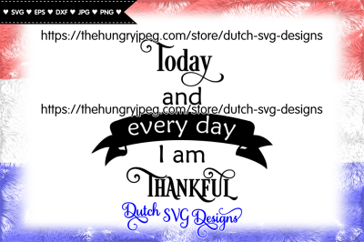 Text cutting file Thankful, thankful svg, grateful svg