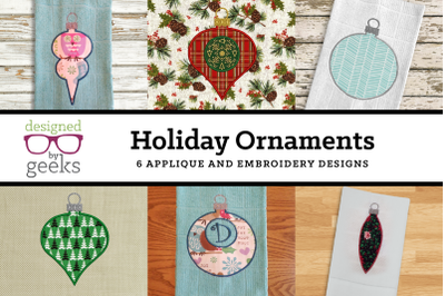 Holiday Ornament Mini Bundle | Applique Embroidery