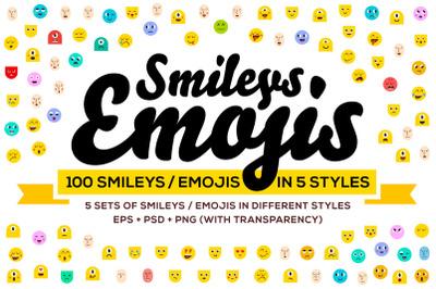 100 Emoji & Smiley Bundle Pack Vol 1