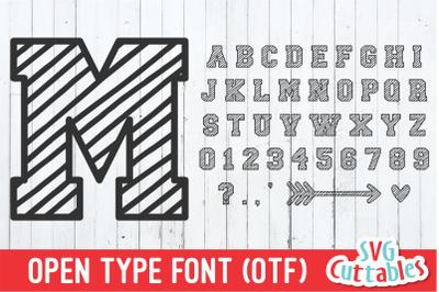 JP Scribble Font | Athletic Font | Collegiate Font