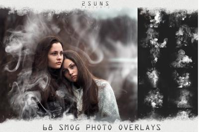 Smog, fog, smoke overlays textures actions presets effect