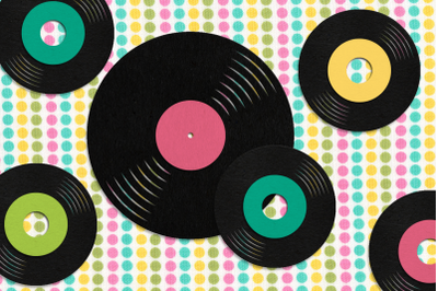 LP Album and 45 Record | SVG | PNG | DXF