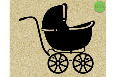 baby carriage svg, eps, vector, download