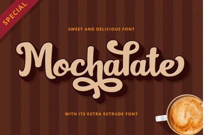 Mochalate Sweet Extrude Font