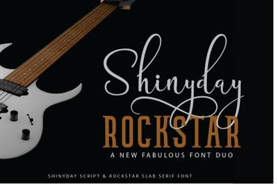 Shinyday Rockstar Font Duo