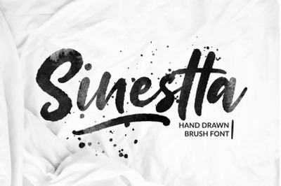 Sinestta Hand Drawn Brush Font