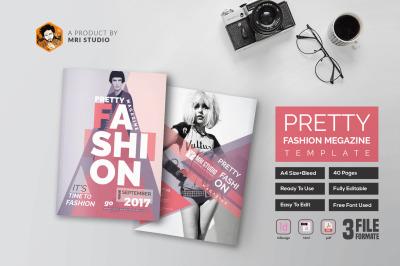 40 Page Fashion Magazine Template