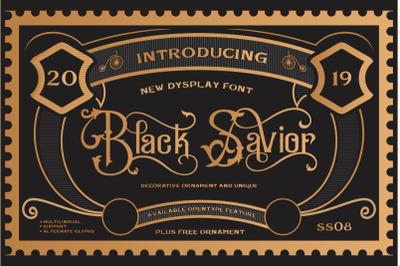 Black Savior - Decorative and Lettering font