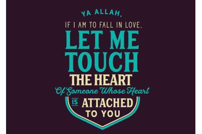 Ya Allah, If i am to fall in love,