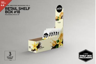 Retail Shelf Box 18 Packaging Mockup