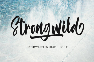 Strongwild | Handwritten Brush Font