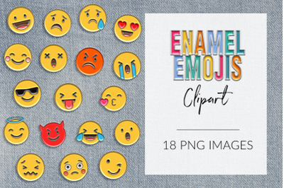 Enamel Emoji Clipart