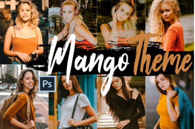 Neo Mango Theme Color Grading photoshop actions