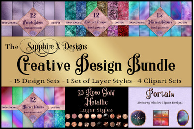 The Sapphire X Designs Creative Design Bundle