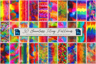 Rainbow Colored Seamless Patterns 2