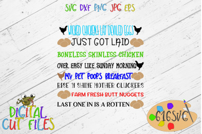 Egg Container Sayings SVG