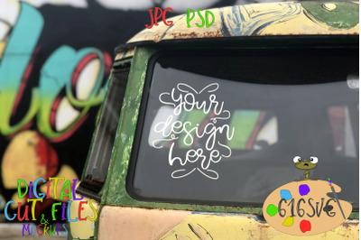 Hippie Van Mockup