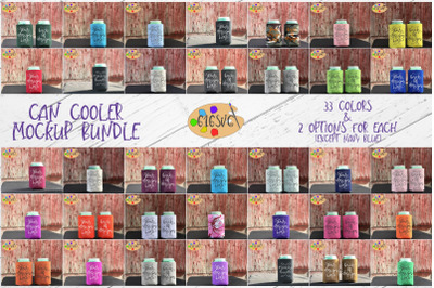 Can Cooler Mockup Bundle