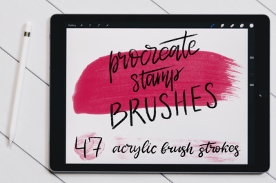 Acrylic Procreate Stamp Brushes