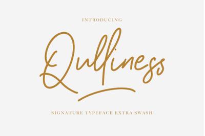 Qulliness Signature Font