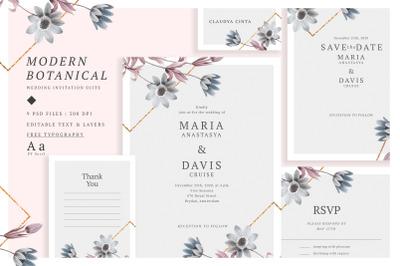 Modern Botanical Wedding Suite