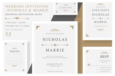 Wedding Invitation-Nicholas & Marrie