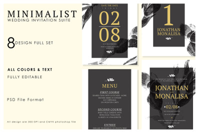 Minimalist Wedding Invitation Set