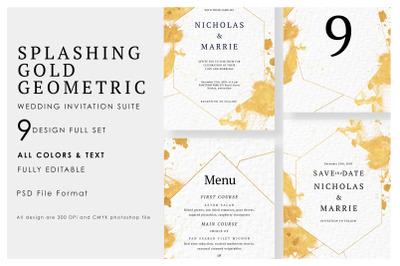 Splashing & Geometric Wedding Suite