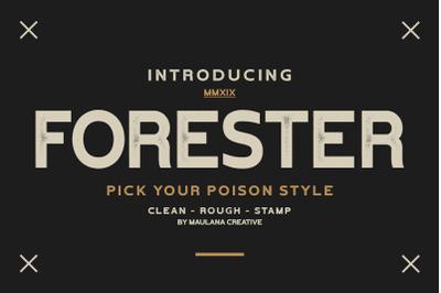 Forester Vintage Sans Serif