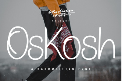 Oskosh Handwritten Font