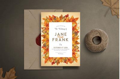 Autumn Wedding SetInvitation