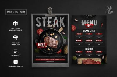 Steak Menu Flyer