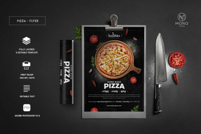 Rustic Pizza Menu Set