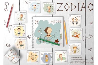 """Zodiak Kids"" Graphic Pack"