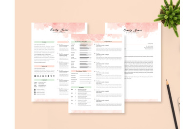 2 Page Resume - CV &  Cover Letter Template