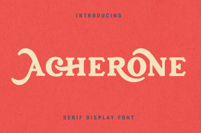 Acherone | Serif Display Font