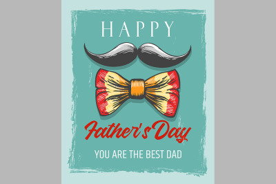 Happy Fathers Day Retro Poster