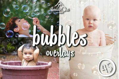 Bubbles Bath Soap Overlays. Newborn Photoshop backdrops