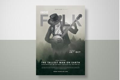 Folk Music Festival Flyer