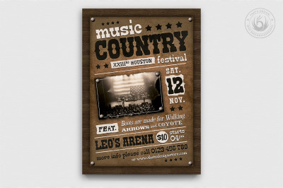 Country Music Flyer Template V2