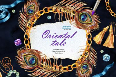 Oriental tale - watercolor set