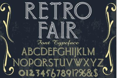 vintage alphabet Typeface handcrafted vector label design