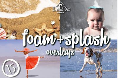 Foam Photo Overlay. Splash Photoshop backdrops, Sea Bathing splash