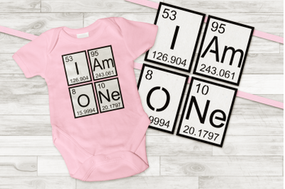 I am One Banner and Birthday Shirt | SVG | PDF | DXF | PNG