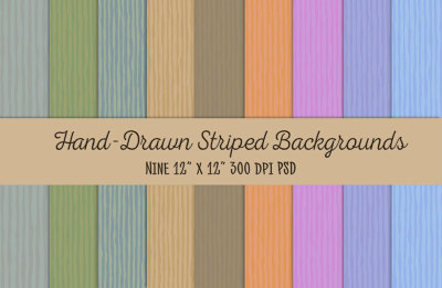 Hand-Drawn-Stripes Backgrounds