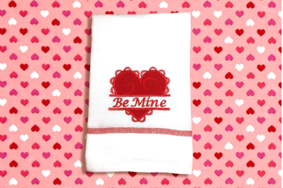 Lacy Valentine's Day Heart Split | Applique Embroidery