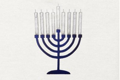 Hanukkah Menorah | Applique Embroidery