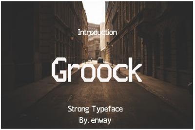 Groock Sans Serif Font