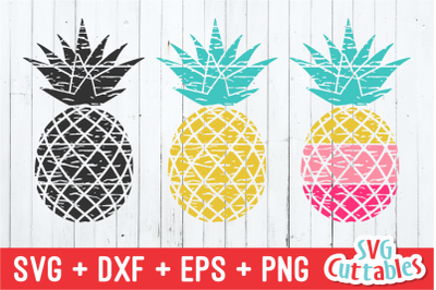 Distressed Pineapple | Summer | SVG Cut File