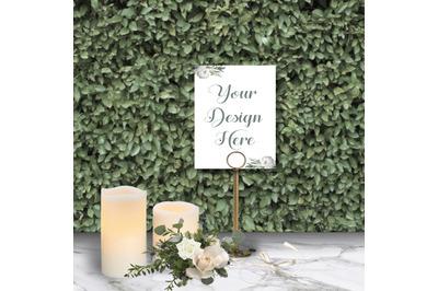 Wedding Mockup/ Wedding Menu Mockup/ Stock Photography/ Rustic Wedding